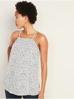 Lightweight Cheetah-Print Square-Neck Cami for Women