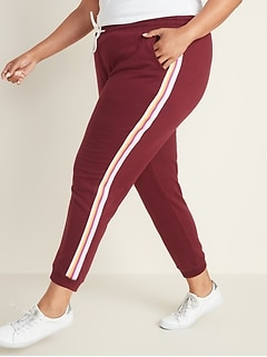 Side-Stripe French Terry Plus-Size Joggers