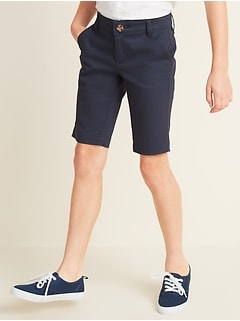 Uniform Skinny Twill Bermudas for Girls