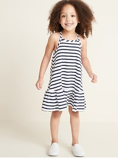 Sleeveless Tiered Swing Dress for Toddler Girls