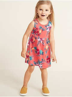 Sleeveless Fit & Flare Dress for Toddler Girls