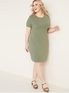 Fitted Jersey Plus-Size Tee Dress