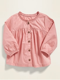 Relaxed Button-Front Top for Baby