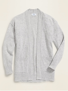 Marled Open-Front Sweater for Girls