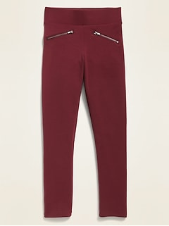 High-Rise Zip Faux-Pocket Stevie Pants for Girls