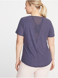 Breathe ON Plus-Size Mesh-Back Performance Tee