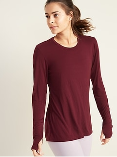 Crew-Neck Performance Tee for Women
