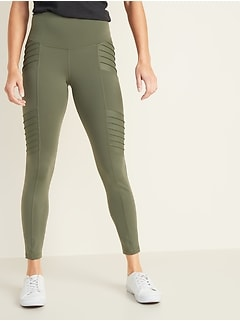 High-Rise Moto 7/8-Length Street Leggings for Women