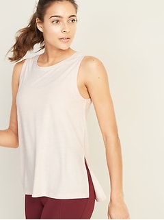 Breathe ON V-Back Side-Vent Tank for Women