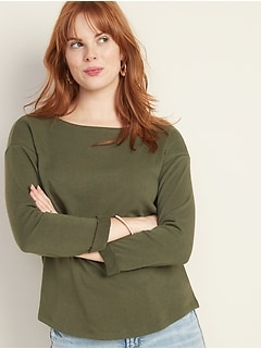 Relaxed French Terry Top for Women