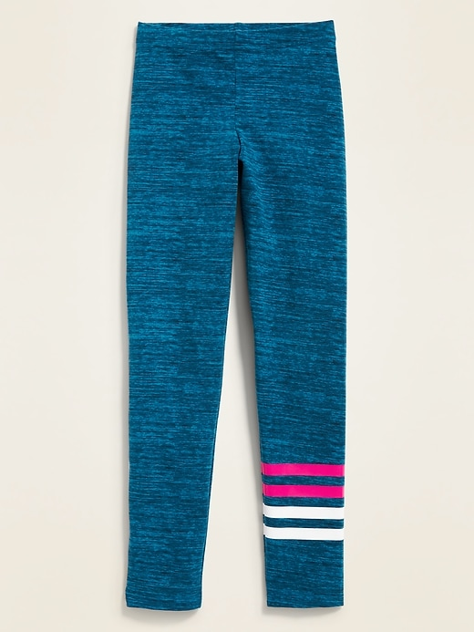 Full-Length Built-In Tough Jersey Leggings for Girls