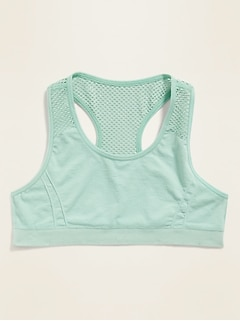 eec2fe63897d4b Seamless Go-Dry Mesh-Panel Sports Bra for Girls
