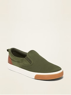 Brushed Twill/Corduroy Slip-Ons for Boys