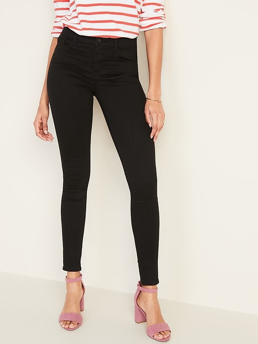 Mid-Rise Built-In Sculpt Never-Fade Rockstar Super Skinny Jeans for Women