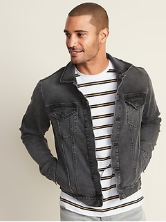 Built-In Tough Black Jean Jacket For Men