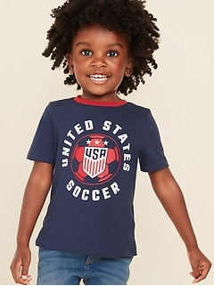 "U.S. Women's Soccer™ ""United States Soccer"" Graphic Tee for Toddler Girls"