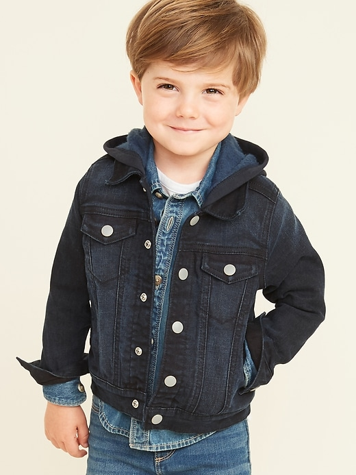 Hooded Jean Jacket For Toddler Boys by Old Navy