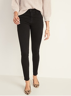 High-Waisted Rockstar 24/7 Sculpt Super Skinny Black Jeans For Women