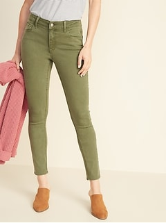 Mid-Rise Pop-Color Rockstar Super Skinny Jeans for Women