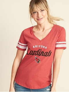 NFL® Team Sleeve-Stripe V-Neck Tee for Women