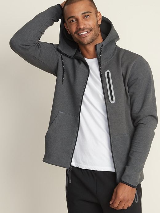 Dynamic Fleece Zip Hoodie for Men