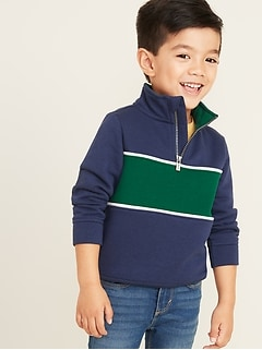 Mock-Neck 1/4-Zip Pullover for Toddler Boys