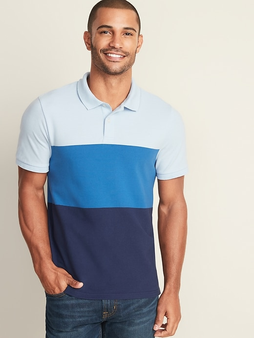 Color-Blocked Moisture-Wicking Pro Polo for Men