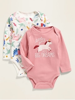 Printed/Graphic Bodysuit 2-Pack for Baby