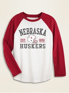 College-Team Raglan-Sleeve Tee for Boys