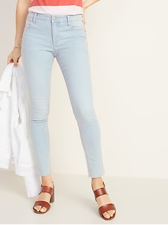 Mid-Rise Super Skinny Ankle Jeans for Women