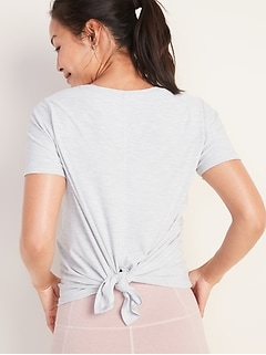 Breathe ON Tie-Back Scoop-Neck Top for Women