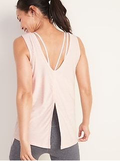 Breathe ON Scoop-Back Tie-Back Tank for Women