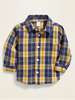 Plaid Poplin Shirt for Baby