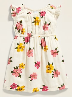 Fit & Flare Empire-Waist Floral Dress for Baby