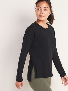 Lightweight French Terry Side-Vent Top for Women