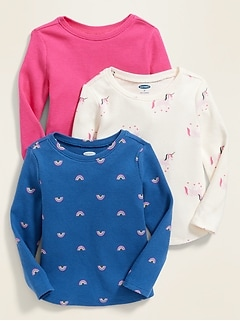 Thermal-Knit Tee 3-Pack for Toddler Girls