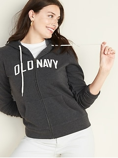 Logo-Graphic Zip Hoodie for Women