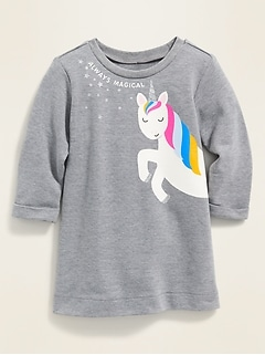 """Always Magical"" Graphic French Terry Dress for Baby"