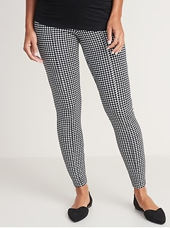 Maternity Full-Panel Houndstooth Stevie Pants