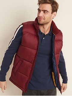 Frost-Free Quilted Puffer Vest for Men