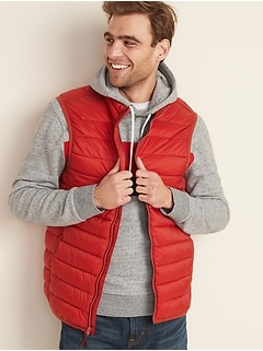 Water-Resistant Packable Puffer Vest for Men
