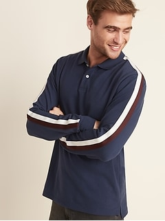 Built-In Flex Moisture-Wicking Sleeve-Stripe Pro Polo for Men