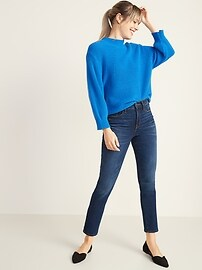 High-Waisted Power Slim Straight Jeans