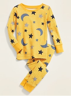 Moon-and-Star-Print Sleep Set for Toddler & Baby