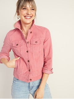 Corduroy Trucker Jacket for Women