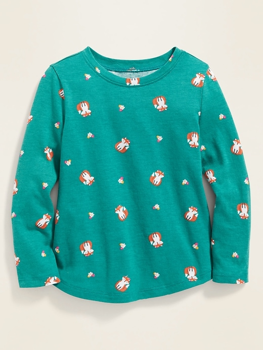 Printed Crew-Neck Tee for Toddler Girls