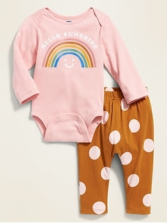 Graphic Bodysuit & Leggings Set for Baby