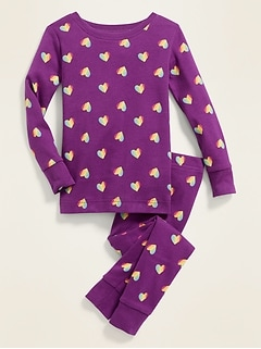 Heart-Print Pajama Set for Toddler & Baby