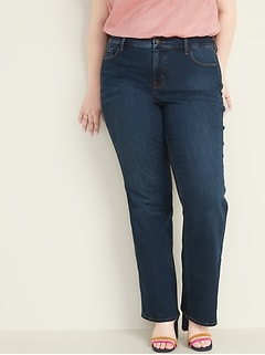 High-Rise Secret-Slim Pockets Kicker Boot-Cut Plus-Size Jeans