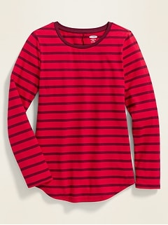 Fitted Softest Crew-Neck Tee for Girls